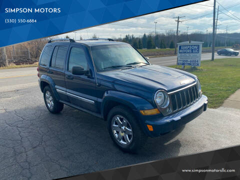 2005 Jeep Liberty for sale at SIMPSON MOTORS in Youngstown OH