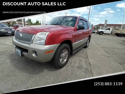 2002 Mercury Mountaineer for sale at DISCOUNT AUTO SALES LLC in Spanaway WA
