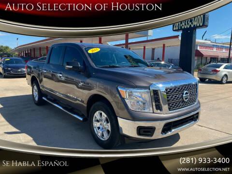 2018 Nissan Titan for sale at Auto Selection of Houston in Houston TX
