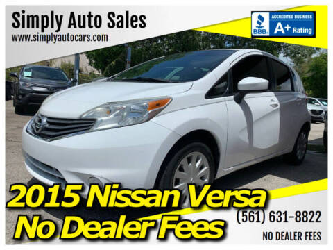 2015 Nissan Versa Note for sale at Simply Auto Sales in Palm Beach Gardens FL