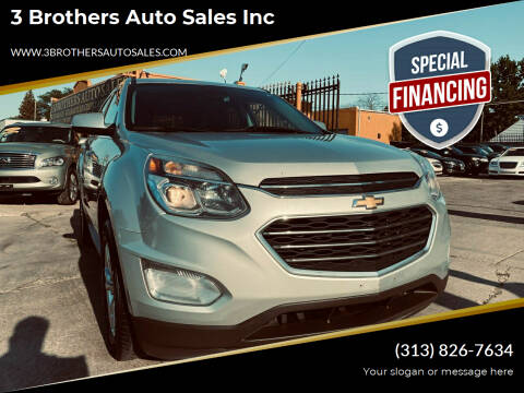 2016 Chevrolet Equinox for sale at 3 Brothers Auto Sales Inc in Detroit MI
