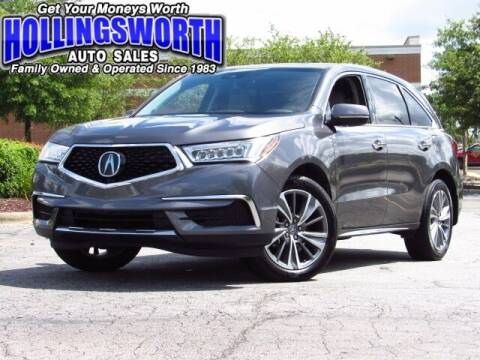 2017 Acura MDX for sale at Hollingsworth Auto Sales in Raleigh NC