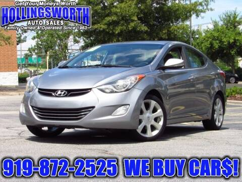 2013 Hyundai Elantra for sale at Hollingsworth Auto Sales in Raleigh NC