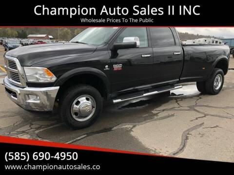 2010 Dodge Ram Pickup 3500 for sale at Champion Auto Sales II INC in Rochester NY