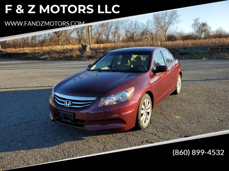 2012 Honda Accord for sale at F & Z MOTORS LLC in Waterbury CT