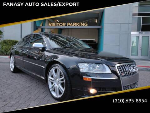 2007 Audi S8 for sale at FANASY AUTO SALES/EXPORT in Yorba Linda CA