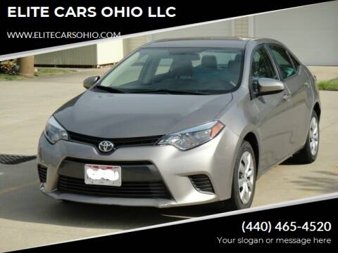 2016 Toyota Corolla for sale at ELITE CARS OHIO LLC in Solon OH