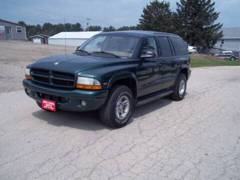 2000 Dodge Durango for sale at SHULLSBURG AUTO in Shullsburg WI