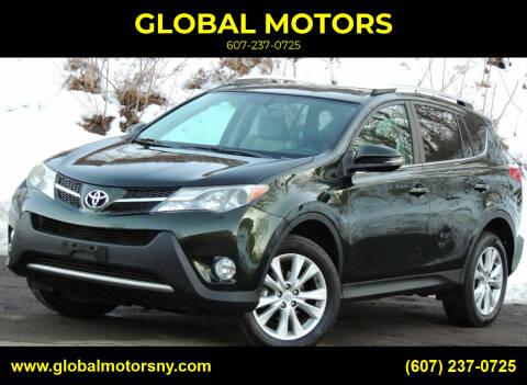 2013 Toyota RAV4 for sale at GLOBAL MOTORS in Binghamton NY