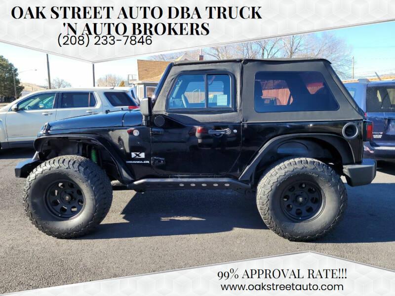 2008 Jeep Wrangler for sale at Oak Street Auto DBA Truck 'N Auto Brokers in Pocatello ID