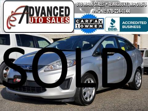 2013 Ford Fiesta for sale at Advanced Auto Sales in Tewksbury MA