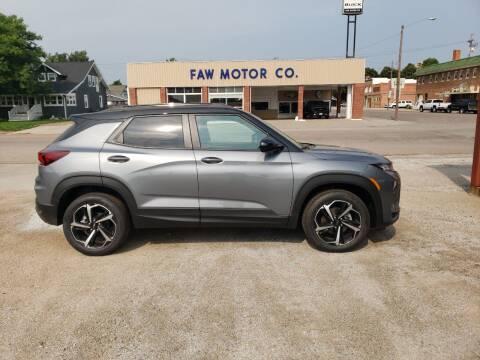 2022 Chevrolet TrailBlazer for sale at Faw Motor Co in Cambridge NE
