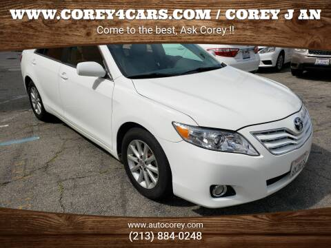 2011 Toyota Camry for sale at WWW.COREY4CARS.COM / COREY J AN in Los Angeles CA