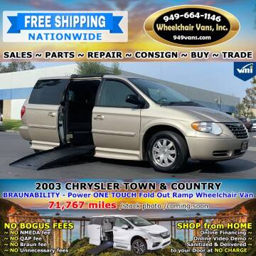 2003 Chrysler Town and Country for sale at Wheelchair Vans Inc - New and Used in Laguna Hills CA