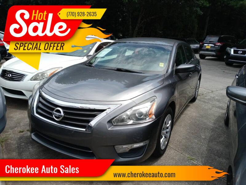 2015 Nissan Altima for sale at Cherokee Auto Sales in Acworth GA