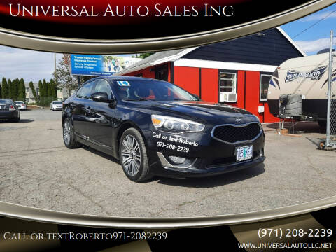 2014 Kia Cadenza for sale at Universal Auto Sales Inc in Salem OR
