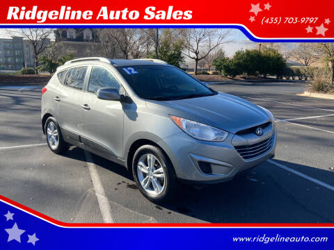 2012 Hyundai Tucson for sale at Ridgeline Auto Sales in Saint George UT
