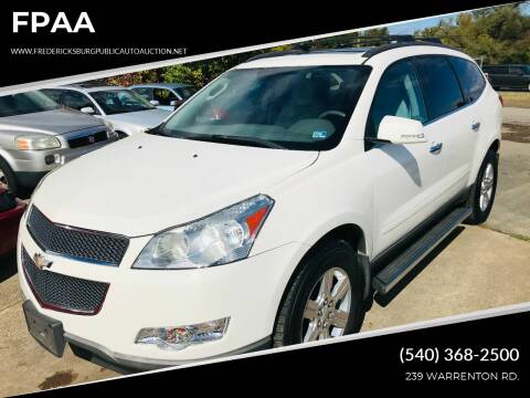 2010 Chevrolet Traverse for sale at FPAA in Fredericksburg VA