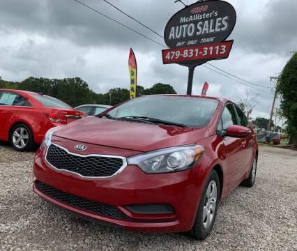2015 Kia Forte for sale at McAllister's Auto Sales LLC in Van Buren AR