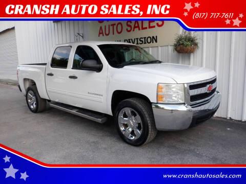 2013 Chevrolet Silverado 1500 for sale at CRANSH AUTO SALES, INC in Arlington TX