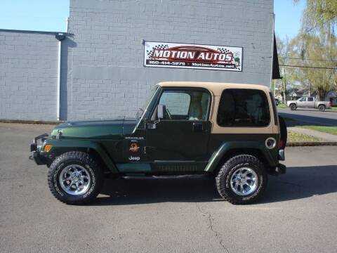 1998 Jeep Wrangler for sale at Motion Autos in Longview WA
