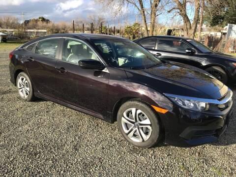 2016 Honda Civic for sale at Quintero's Auto Sales in Vacaville CA