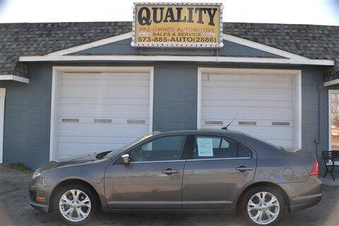 2012 Ford Fusion for sale at Quality Pre-Owned Automotive in Cuba MO