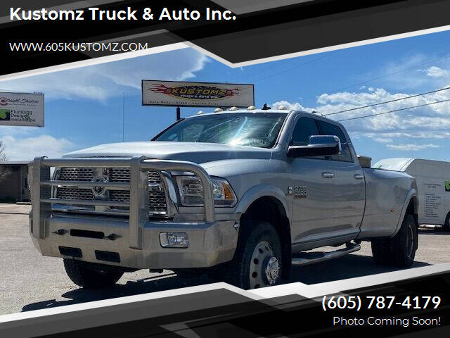 2014 RAM Ram Pickup 3500 for sale at Kustomz Truck & Auto Inc. in Rapid City SD