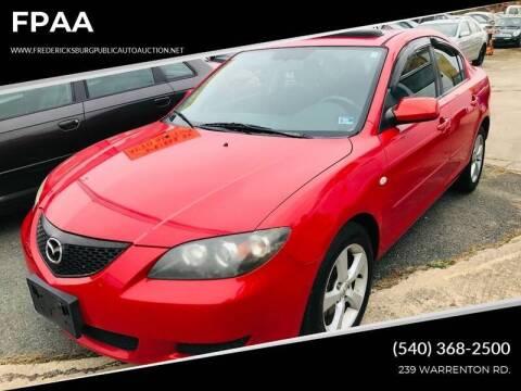 2006 Mazda MAZDA3 for sale at FPAA in Fredericksburg VA