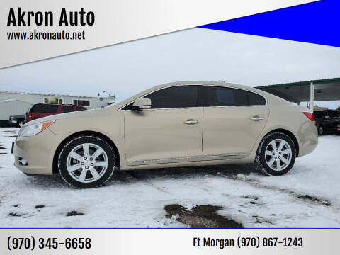 2012 Buick LaCrosse for sale at Akron Auto - Fort Morgan in Fort Morgan CO