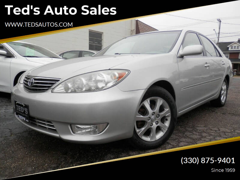 2006 Toyota Camry for sale at Ted's Auto Sales in Louisville OH