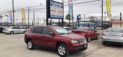 2014 Jeep Compass for sale at S.A. BROADWAY MOTORS INC in San Antonio TX