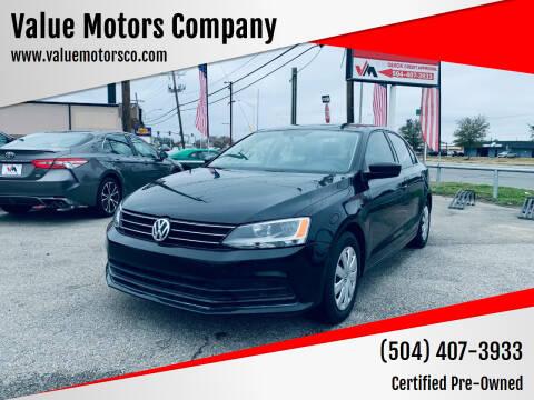 2016 Volkswagen Jetta for sale at Value Motors Company in Marrero LA