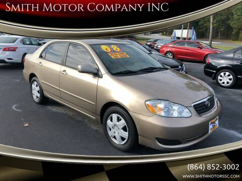 2008 Toyota Corolla for sale at Smith Motor Company INC in Mc Cormick SC