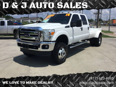 2014 Ford F-350 Super Duty for sale at D & J AUTO SALES in Joplin MO