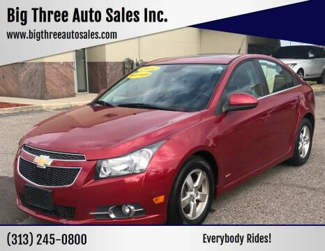 2014 Chevrolet Cruze for sale at Big Three Auto Sales Inc. in Detroit MI