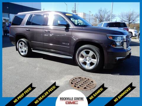 2015 Chevrolet Tahoe for sale at Rockville Centre GMC in Rockville Centre NY