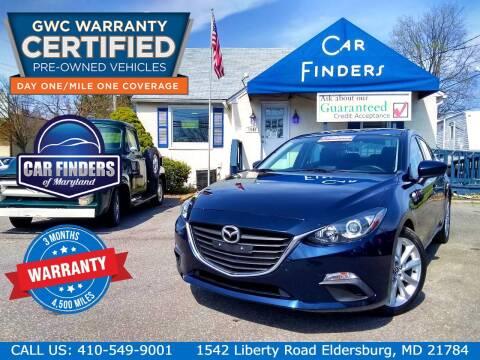 2015 Mazda MAZDA3 for sale at CAR FINDERS OF MARYLAND LLC - Certified Cars in Eldersburg MD