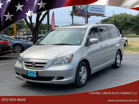 2007 Honda Odyssey for sale at Central Union Auto Finance LLC in Austin TX
