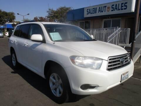 2010 Toyota Highlander for sale at Salem Auto Sales in Sacramento CA