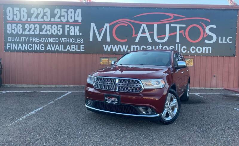 2015 Dodge Durango for sale at MC Autos LLC in Pharr TX