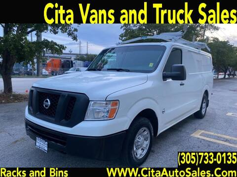 2016 Nissan NV Cargo for sale at Cita Auto Sales in Medley FL