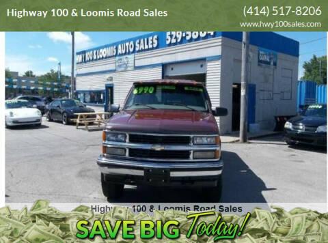 1998 Chevrolet C/K 1500 Series for sale at Highway 100 & Loomis Road Sales in Franklin WI