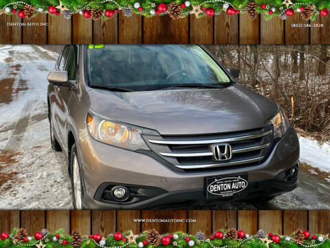 2013 Honda CR-V for sale at Denton Auto Inc in Craftsbury VT