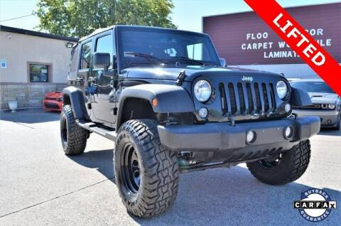 2017 Jeep Wrangler Unlimited for sale at LAKESIDE MOTORS, INC. in Sachse TX