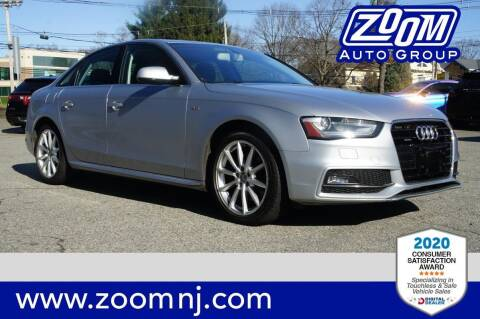 2016 Audi A4 for sale at Zoom Auto Group in Parsippany NJ