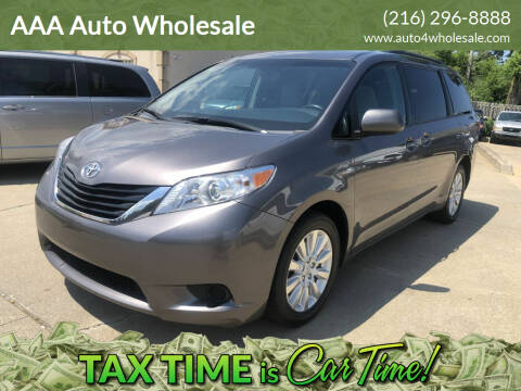 2017 Toyota Sienna for sale at AAA Auto Wholesale in Parma OH