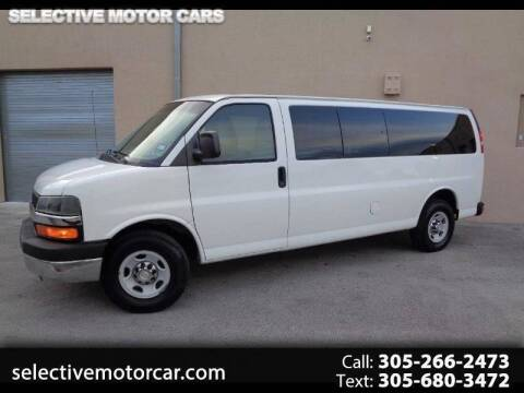 2010 Chevrolet Express Passenger for sale at Selective Motor Cars in Miami FL