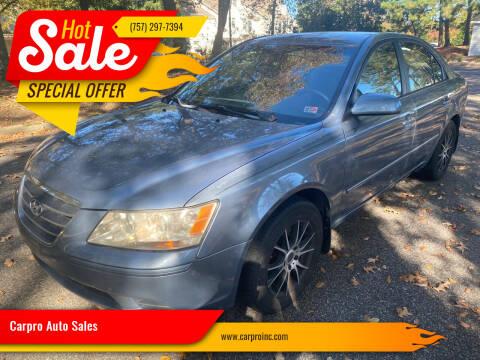 2009 Hyundai Sonata for sale at Carpro Auto Sales in Chesapeake VA
