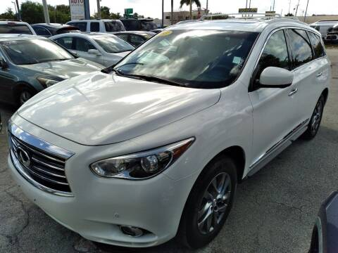 2013 Infiniti JX35 for sale at P S AUTO ENTERPRISES INC in Miramar FL